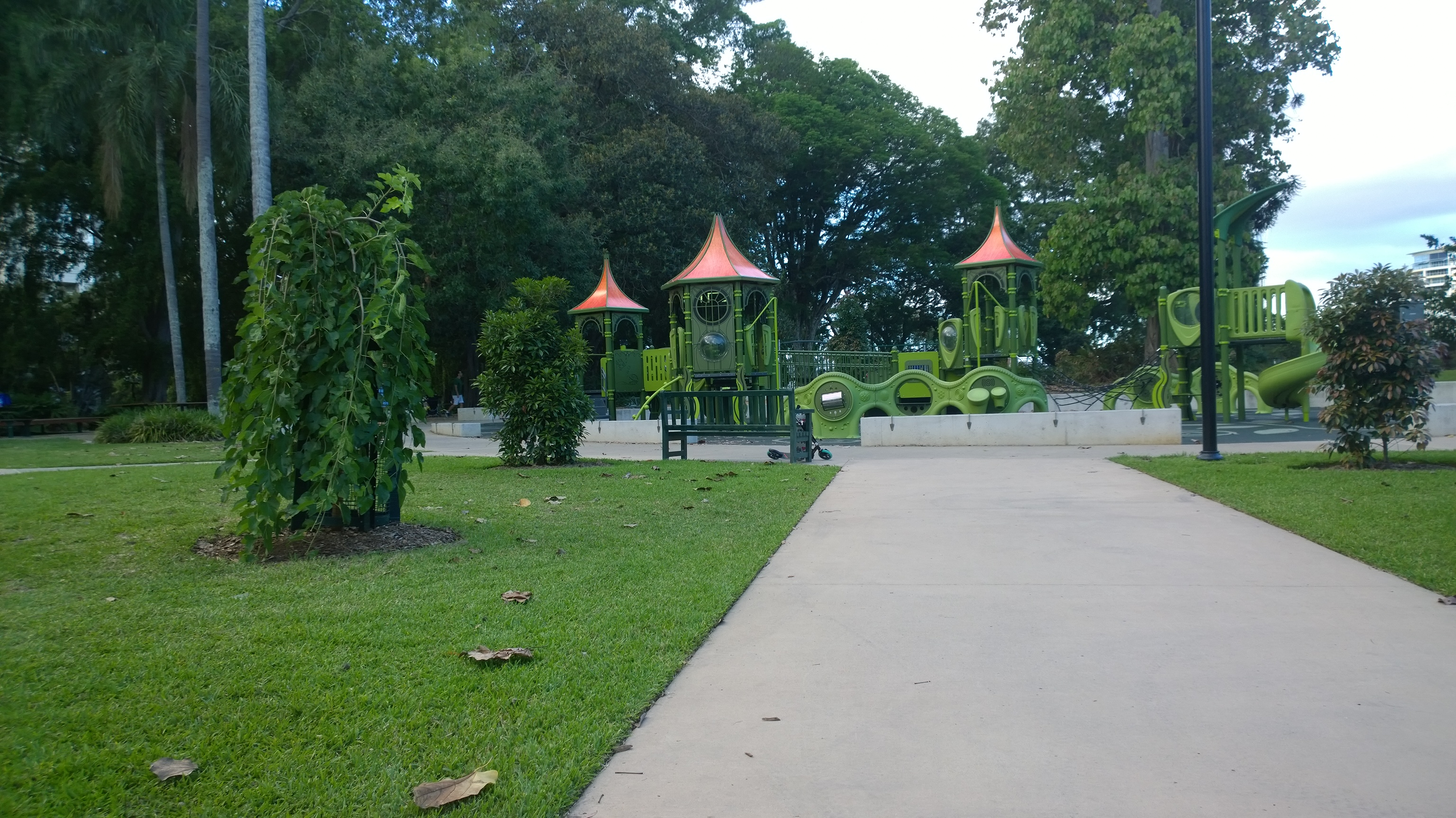 scooter path at park
