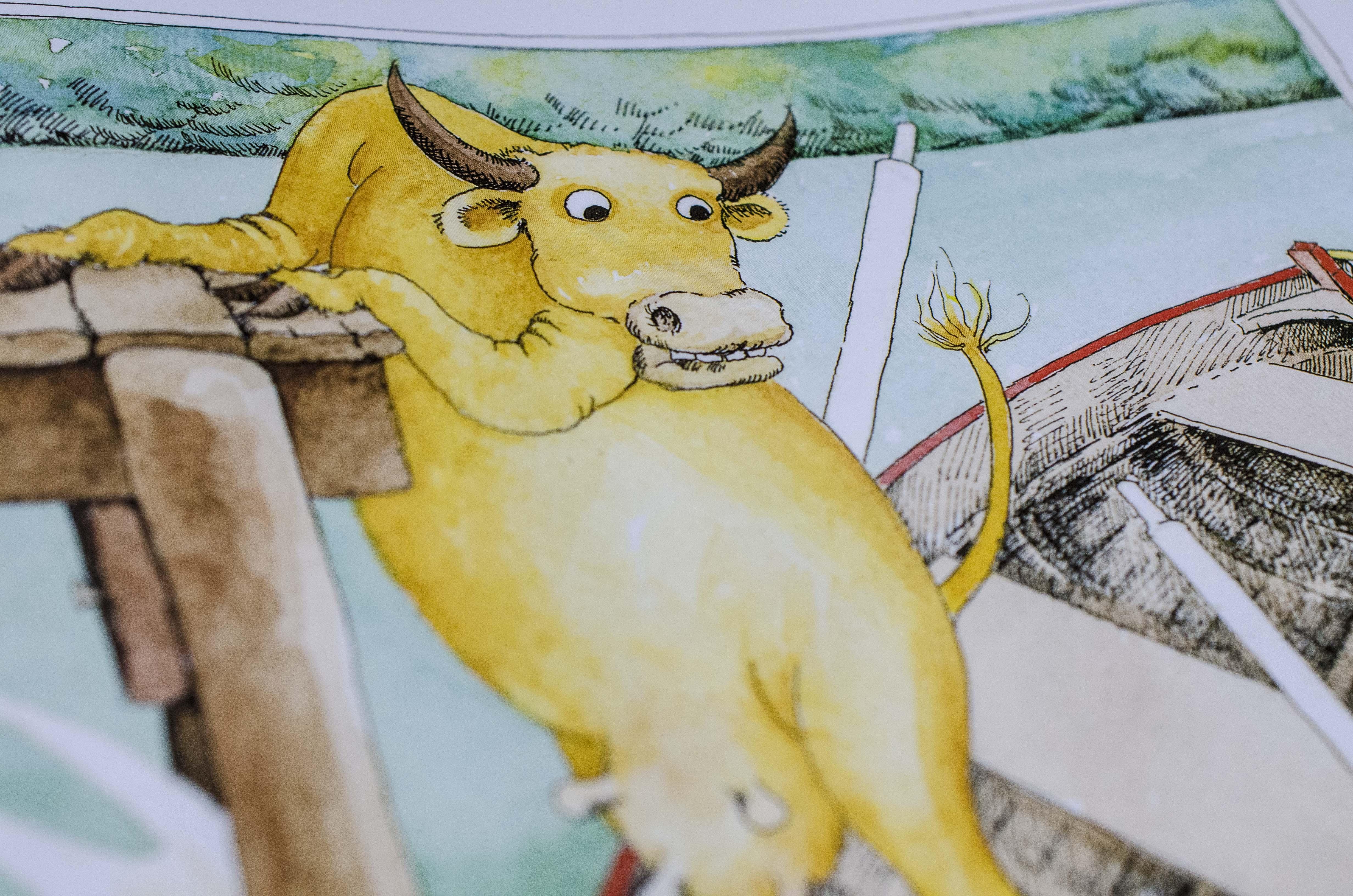 Who Sank the Boat, Pamela Allen, Review, cow, boat