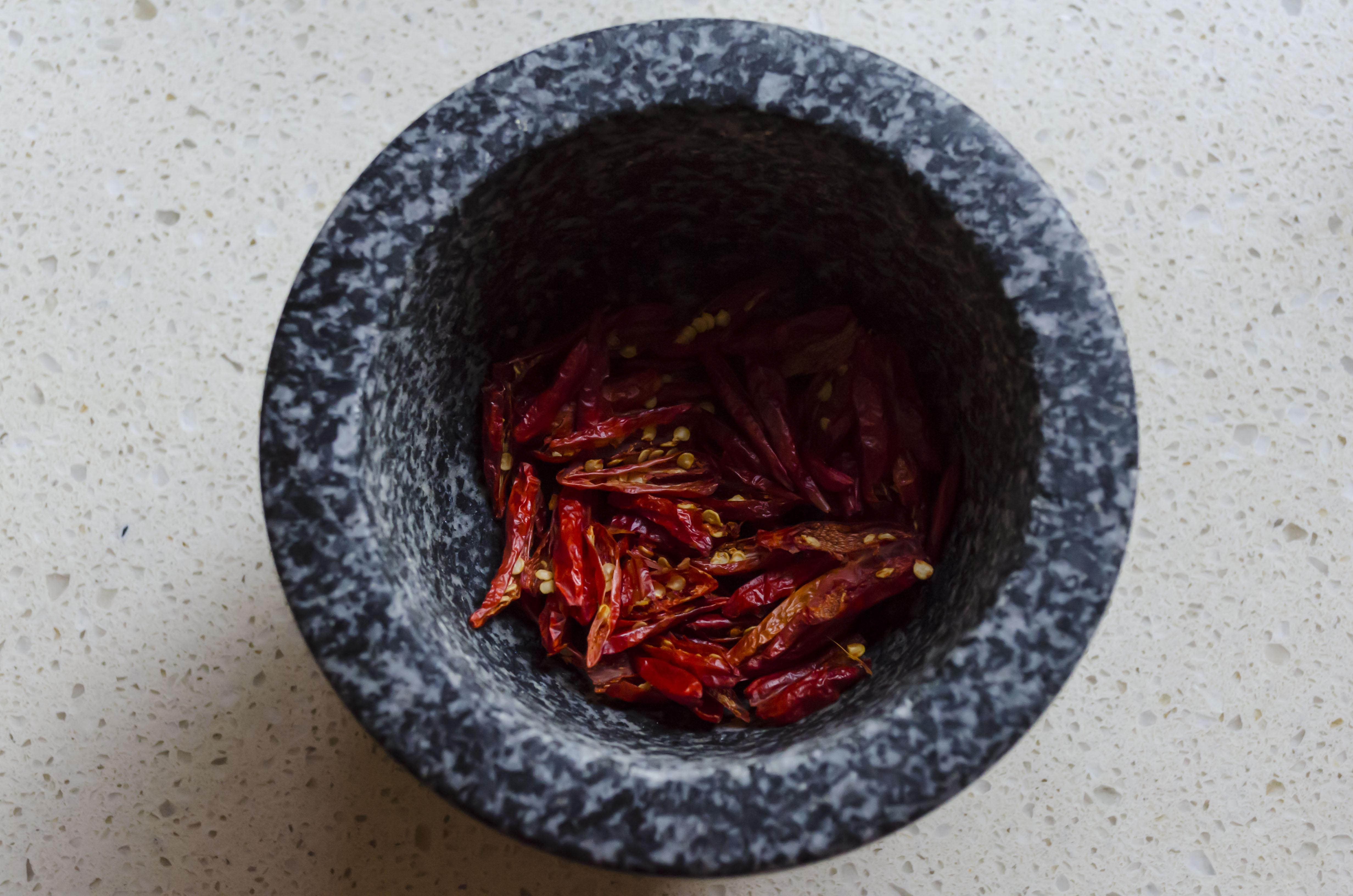World's worst food blogger, chili salt, chili, chilli, mortar and pestle