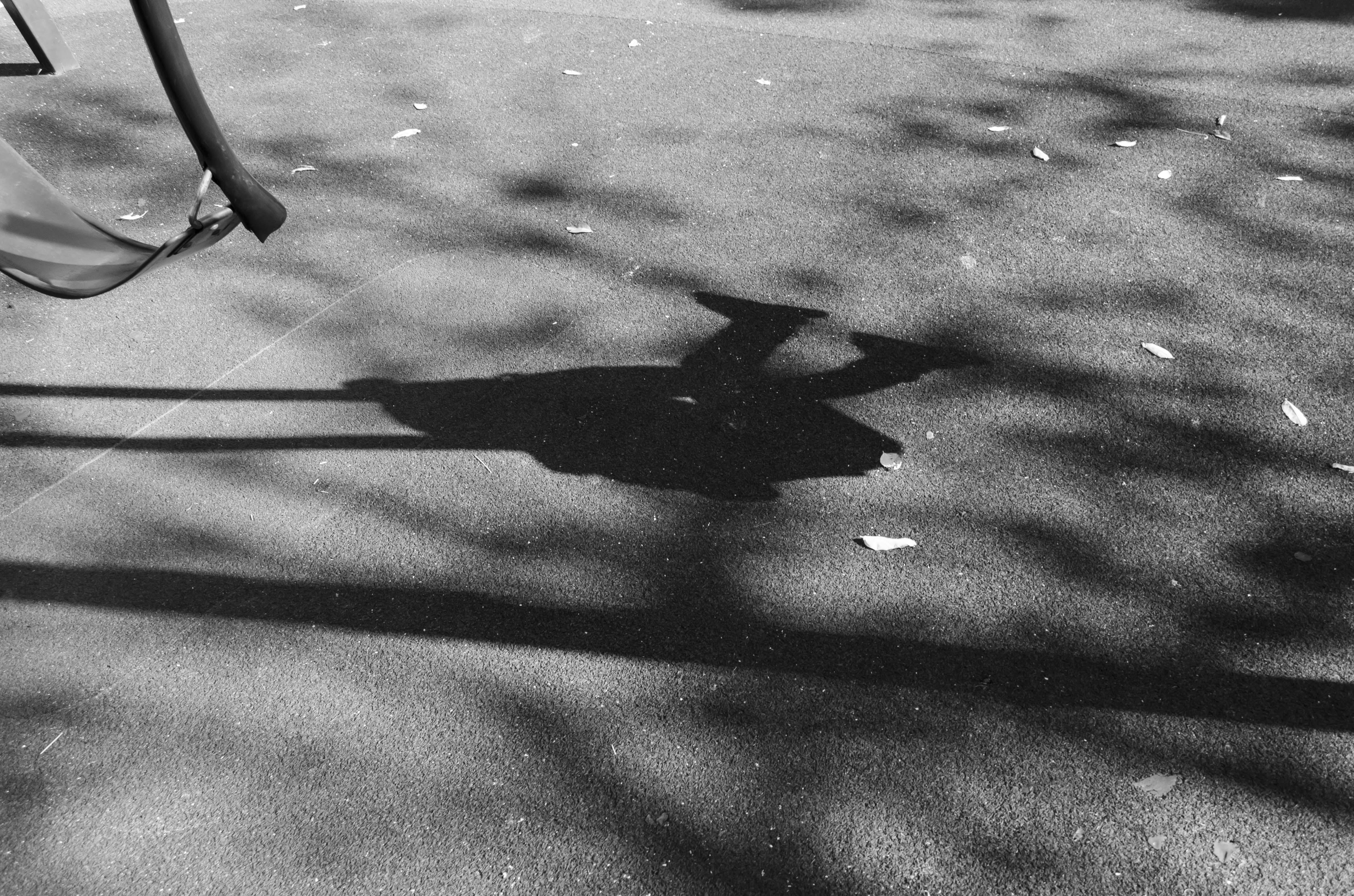 shadow of swing Gough Whitlam Park Swings, baby, swinging, shadow